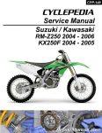 Suzuki RM-Z250 Kawasaki KX250F Cyclepedia Printed Motorcycle Service Manual_cover