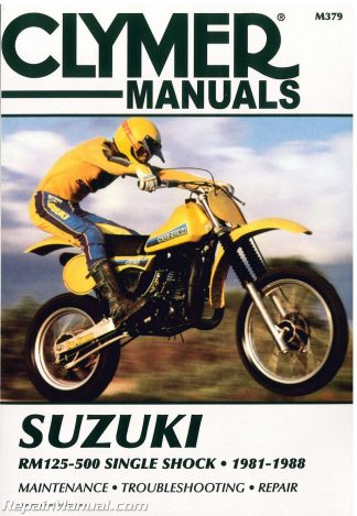 suzuki rm125-500 single shock 1981-1988 motorcycle repair manual