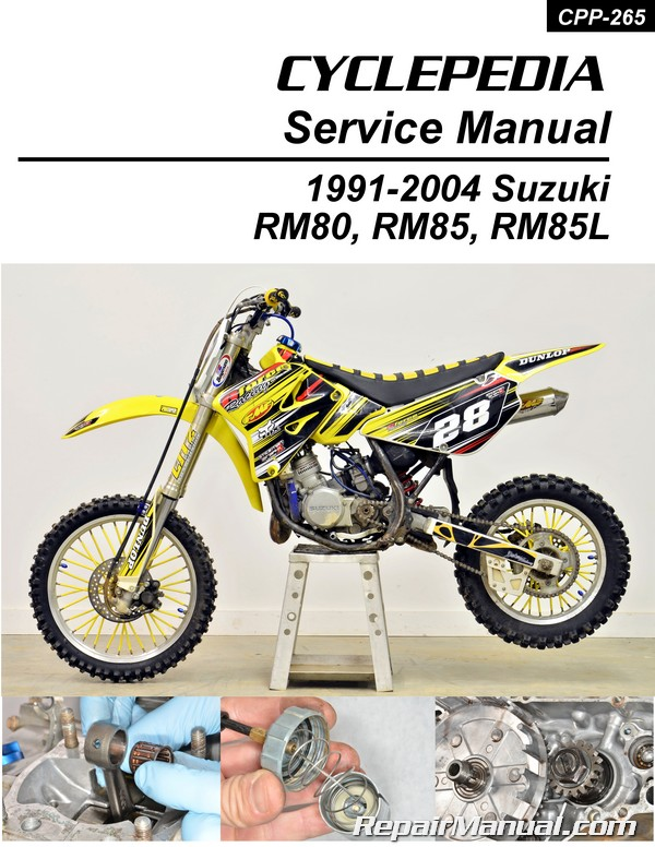 91 rmx 250 manual array suzuki rm80 rm85 1991 2004 motorcycle service manual cyclepedia rh repairmanual com fandeluxe