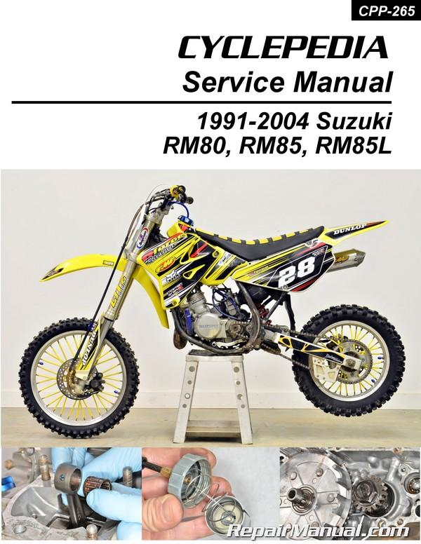 suzuki rm80 rm85 1991 2004 motorcycle service manual Kawasaki Motocross Team Suzuki Motocross