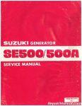 Suzuki SE500 SE500A Generator Service Manual_001