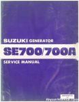 Suzuki SE700 SE700A Generator Service Manual_001
