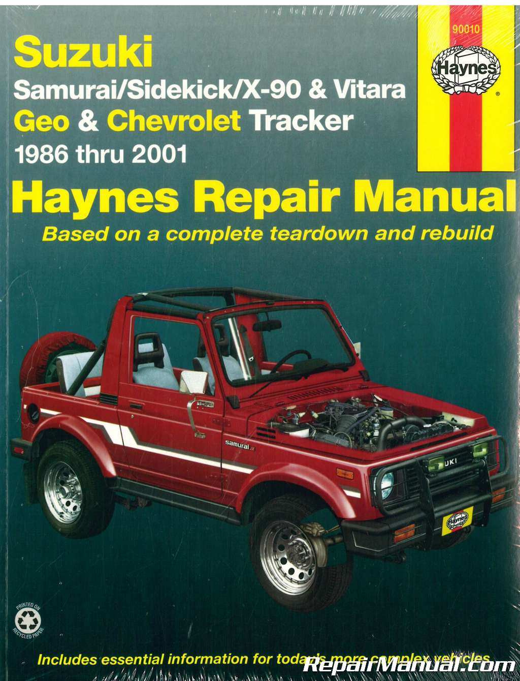 Suzuki Samurai Sidekick X-90 Vitara Chevrolet Geo Tracker 1986-2001 Haynes Repair  Manual