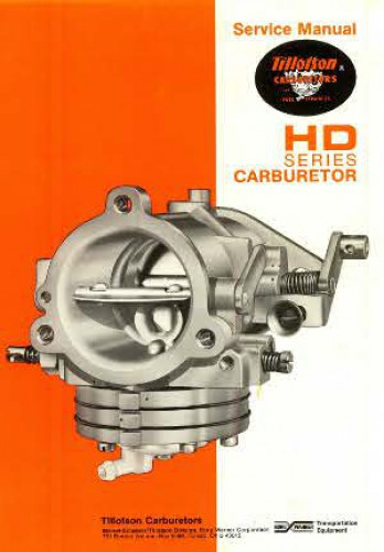 Tillotson Diaphragm Hd Series Carburetor Service Manual