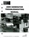 Official Honda Generator Troubleshooting Manual 2009