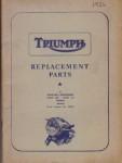 1956 Triumph Replacement Parts Manual