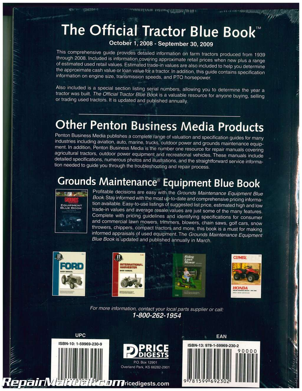 The Official 2009 Edition Tractor Blue Book 1939 2008