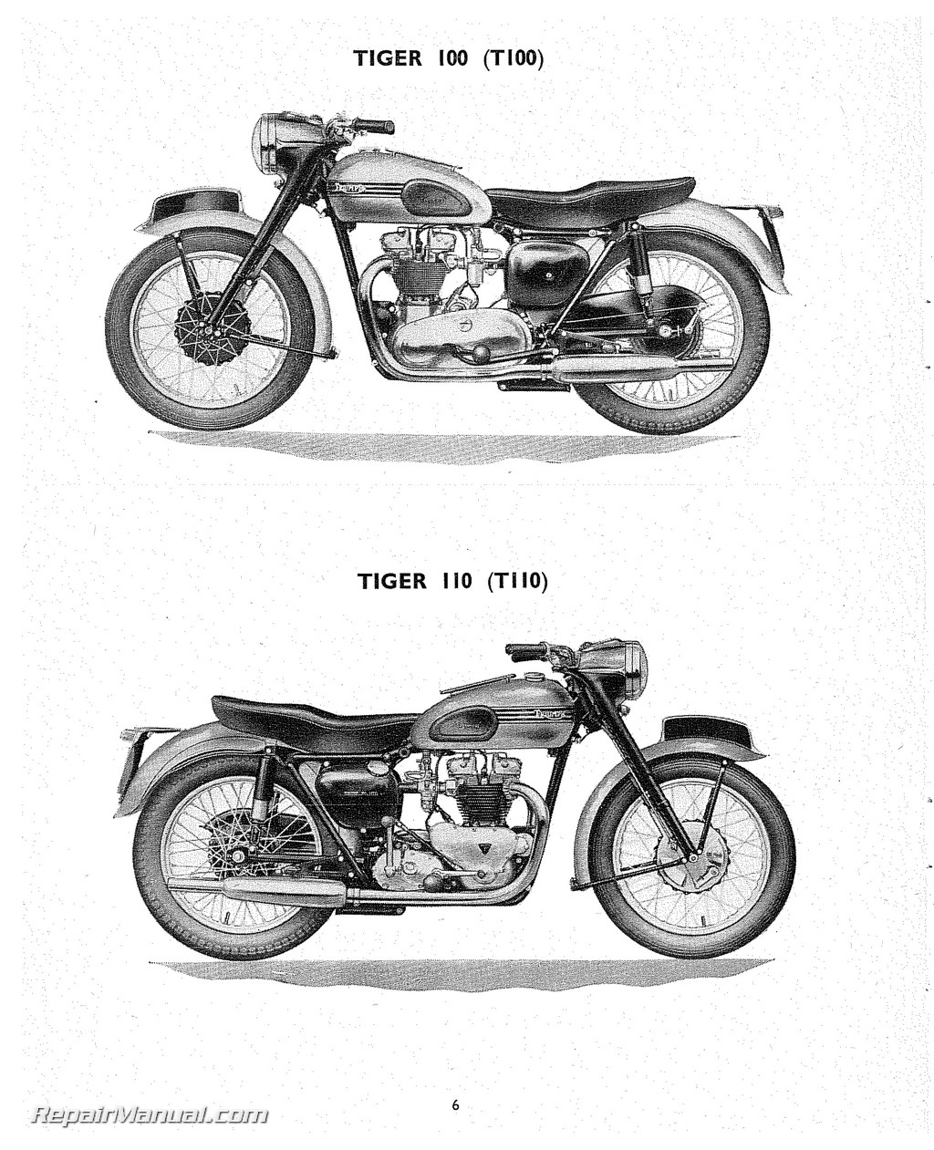 Triumph Replacement Parts Manual 1955 Speed Twin Thunderbird Tiger 100 110  Trophy