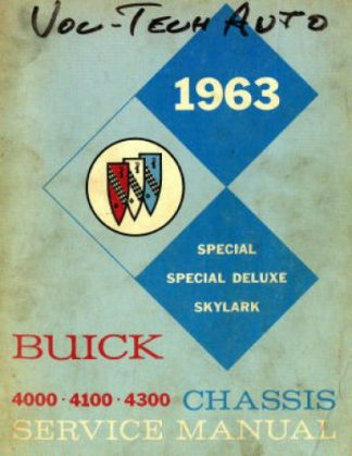 Buick Chassis Service Manual 1963 Used
