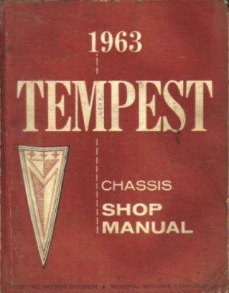 1963 Pontiac Tempest Chassis Factory Service Manual