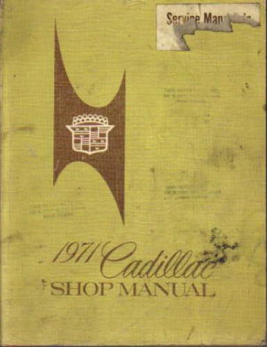1971 Cadillac Automobile Service Manual