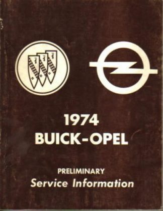1974 Buick Opel Service Manual