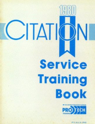 Chevrolet Citation Service Training Book Manual 1980 Used