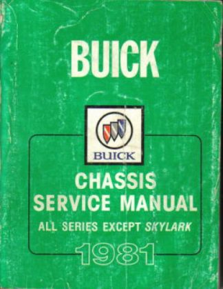 1981 Buick Chassis Service Manual