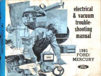Used 1981 Ford Mercury Electrical Vacuum Troubleshooting Manual