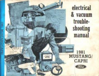 Used 1981 Ford Mustang Mercury Capri Electrical Vacuum Troubleshooting Manual