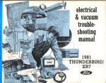 Used 1981 Ford Thunderbird Mercury XR-7 Electrical Vacuum Troubleshooting Manual