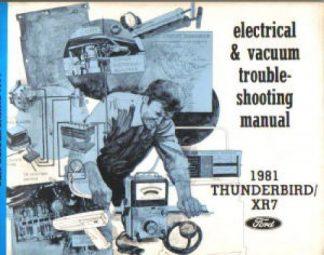 Used 1981 Ford Thunderbird Mercury XR-7 Electrical Vacuum Troubleshooting Manual
