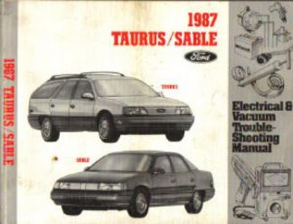 Used 1987 Ford Taurus Mercury Sable Electrical Vacuum Troubleshooting Manual