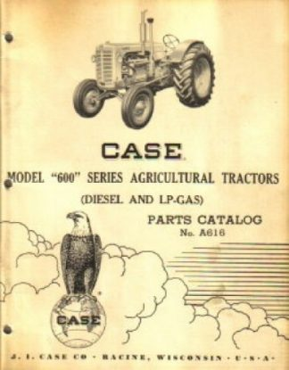 Used Case 600 Series Tractors Factory Parts Manual
