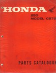 1961-1966 Honda 250 CB72 Factory Parts Manual