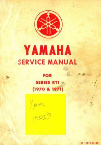U LIT 11612 75 99t 1970 1971 rt1 360cc dt2 rt2 yamaha motorcycle service manual
