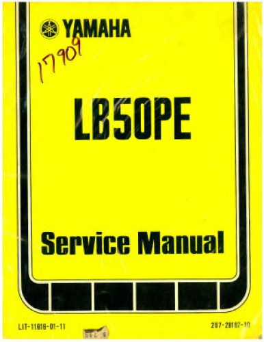 Used Official 1978 Yamaha LB50PE Moped ChappyFactory Service Manual