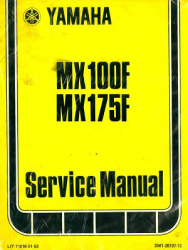 1979 yamaha mx100f and 1979 yamaha mx175f service manual. Black Bedroom Furniture Sets. Home Design Ideas
