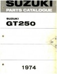 Used 1973-1974 Suzuki GT250K L Hustler Factory Parts Manual