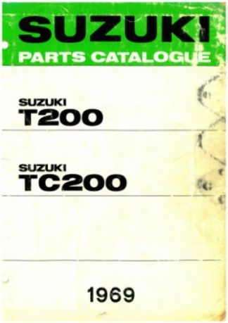 Official 1969 Suzuki T200 and TC200 Parts List Factory Parts Manual
