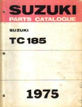 Used Official 1975 Suzuki TC185M Ranger Factory Parts Manual