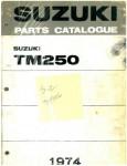 Official 1972-1974 Suzuki TM250 Factory Parts Manual