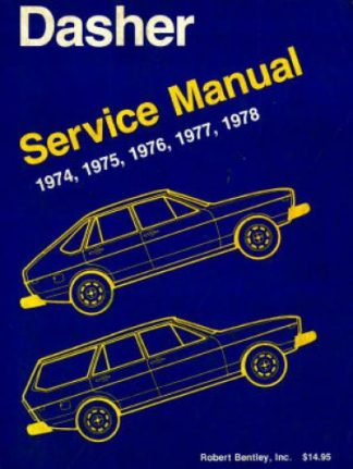 Used 1974-1978 Volkswagen Dasher Service Manual