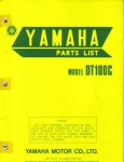 Used Official 1976 Yamaha DT100C Parts List Factory Parts Manual