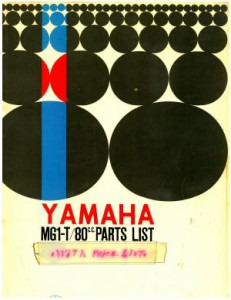 Official 1964 Yamaha MG1-T 80 Scooter Parts Manual with Price List