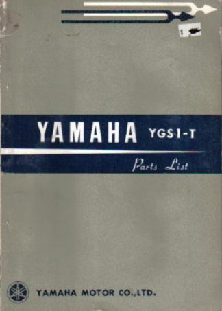 Used Official 1965 Yamaha YGS1-T 75cc Factory Parts Manual