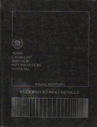 Used 1986 Cadillac Service Information Manual