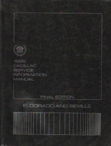 Used 1986 Cadillac Service Information Manual