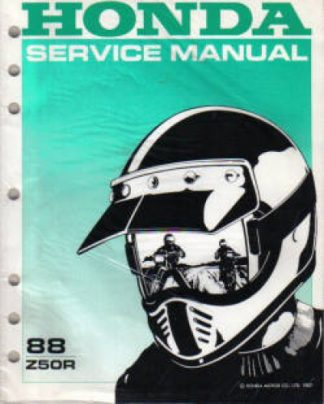 Used Official 1988 Honda Z50R Factory Shop Manual