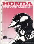 Used Honda 1986 ATC125M Factory Service Manual