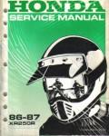 Used Official 1986-1987 Honda XR250R Factory Shop Manual