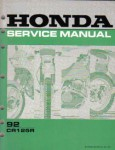 Used Official Honda CR125R 1992 Factory Shop Manual