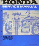 Used Official 1990-1993 Honda VFR750F Factory Service Manual