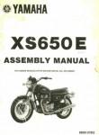 Used 1978 Yamaha XS650E Assembly Manual