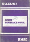 Official 1990 Suzuki RM80L Owners Maintenance Manual