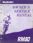 Used Official 1993 Suzuki RM80P Factory Owners Service Manual