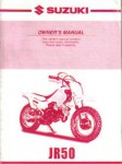 Official 2000 Suzuki JR50Y Owners Manual