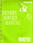 Used Official 1992 Suzuki RM250 Factory Owners Service Manual