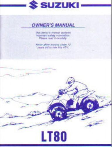 Suzuki 1998-2000 LT80 ATV Owners Manual