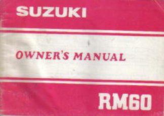 1983 Suzuki RM60 Owners Maintenance Manual
